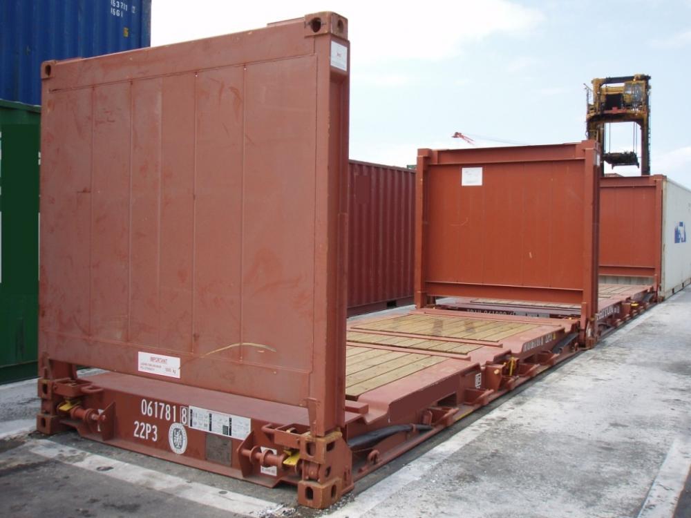 Leggyakrabban használt konténer típusok - FLAT RACK