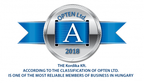 "The company Opten Kft. granted ""A"" Qualification to Kordika Kft."